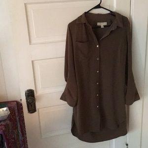Michael Kors—Olive Green button-up dress